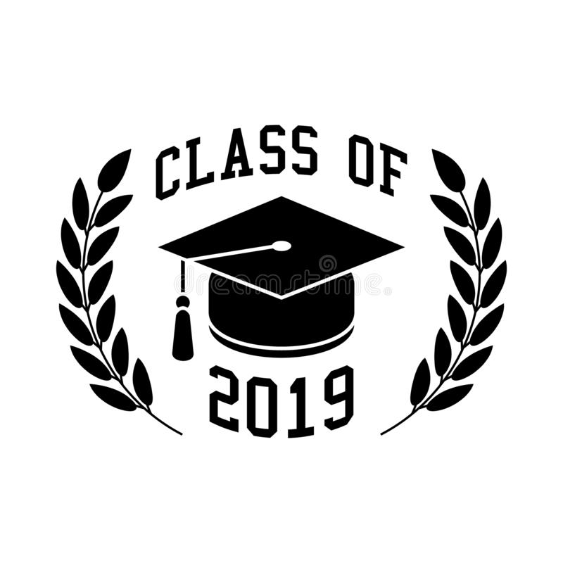 Class of 2019. A vector illustration for the class of 2019 isolated on a white background vector illustration