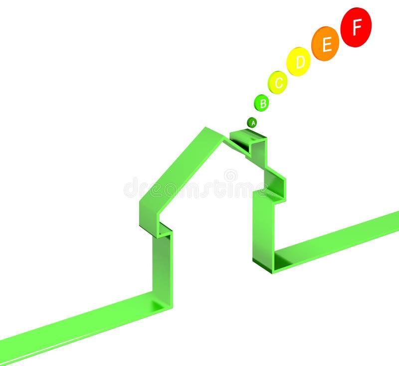 Classe énergique de maison illustration libre de droits