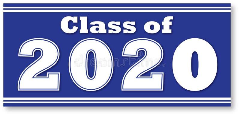 Classe azul de bandeira encaixotada 2020 ilustração stock