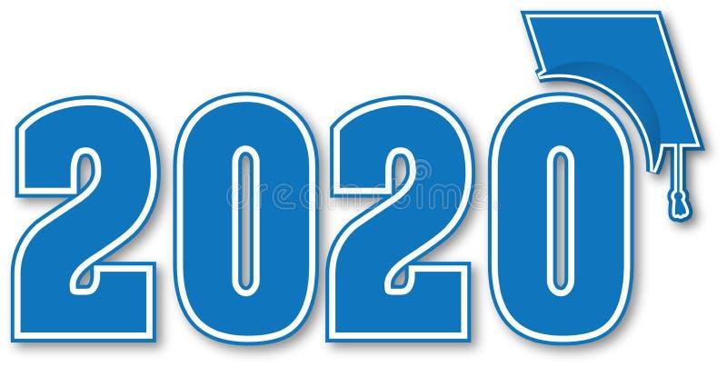 Classe azul de 2020 com tampão ilustração royalty free