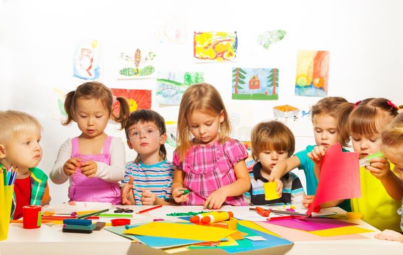 Classe criativa das crianças imagens de stock royalty free