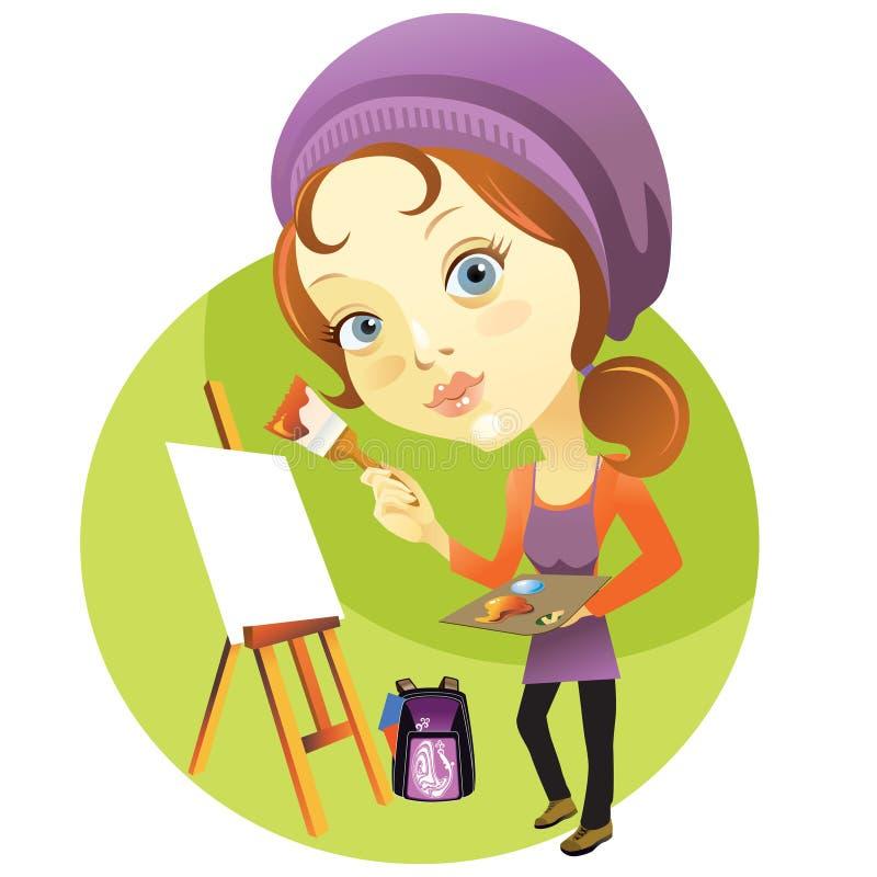 Classe d'art illustration de vecteur