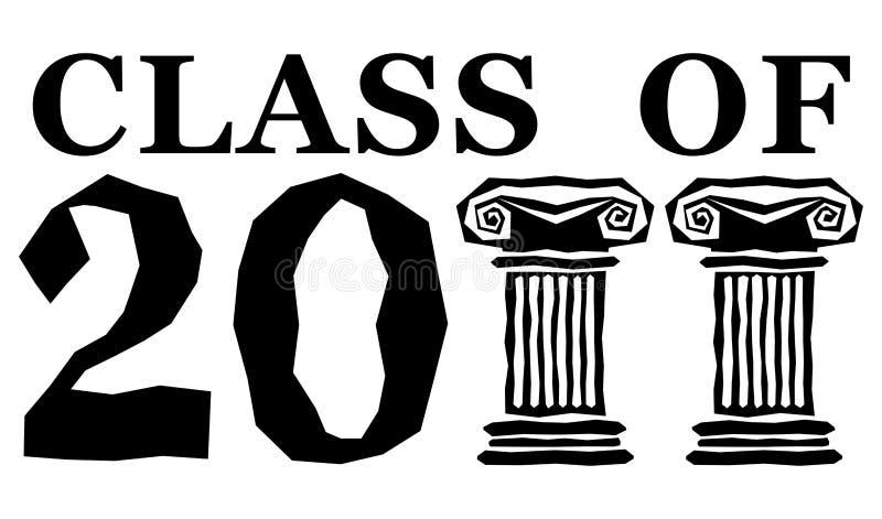 Classe de 2011 ilustração do vetor
