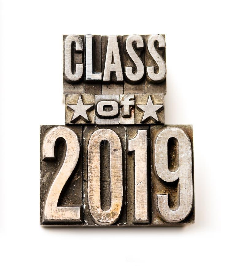 Classe de 2019 photo stock