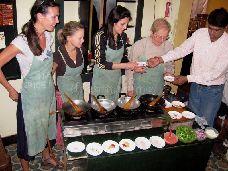 Classe de cuisson photographie stock libre de droits