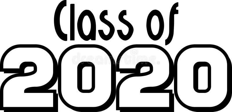 Classe de 2020 em forma de caixa ilustração do vetor
