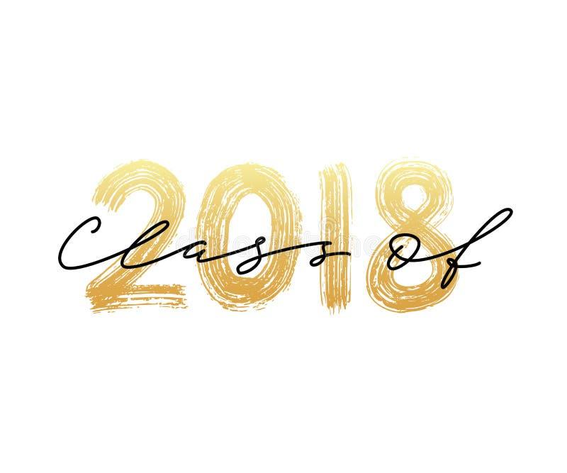 Classe de 2018 Logotipo da graduação ilustração royalty free