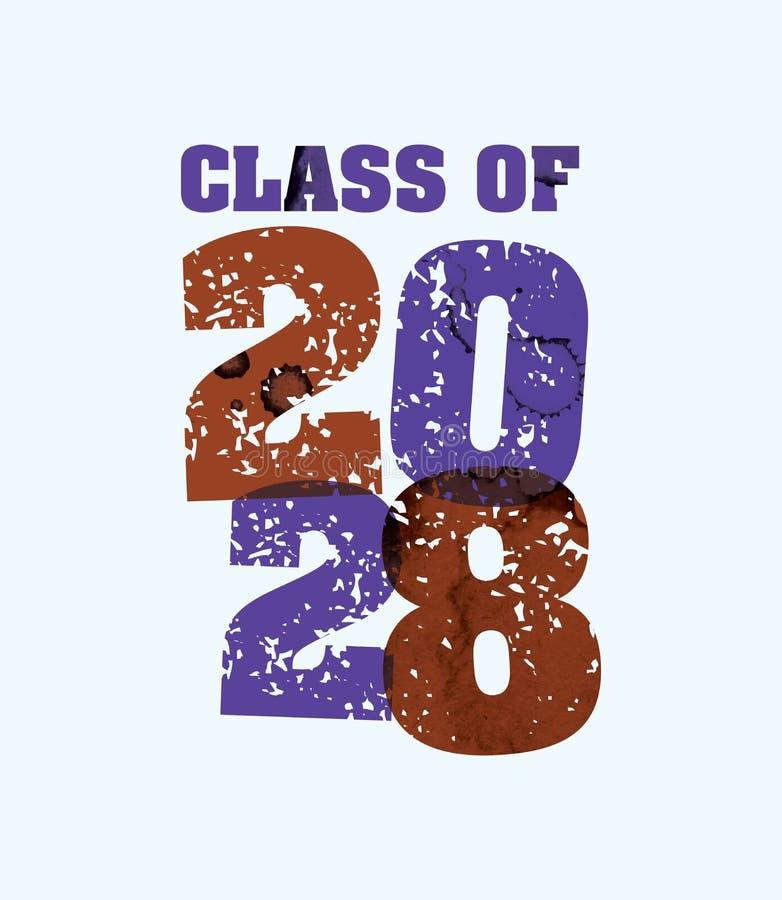Classe de palavra carimbada conceito 2029 Art Illustration ilustração stock
