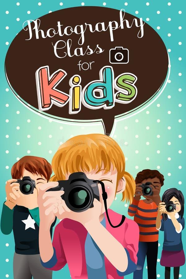 Classe de photographie pour l'affiche d'enfants illustration de vecteur