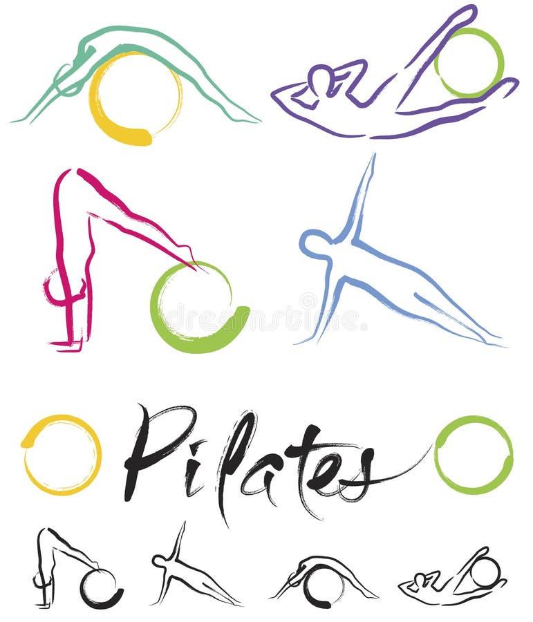Classe de Pilates – vecteur de couleur illustration de vecteur