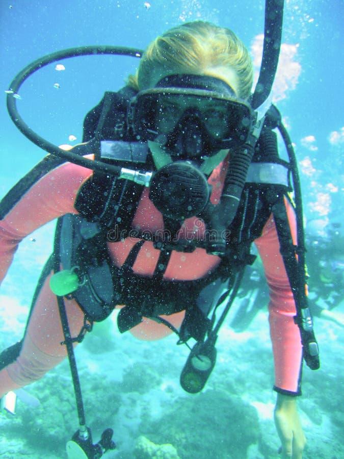 Classe de plongée à l'air photos stock