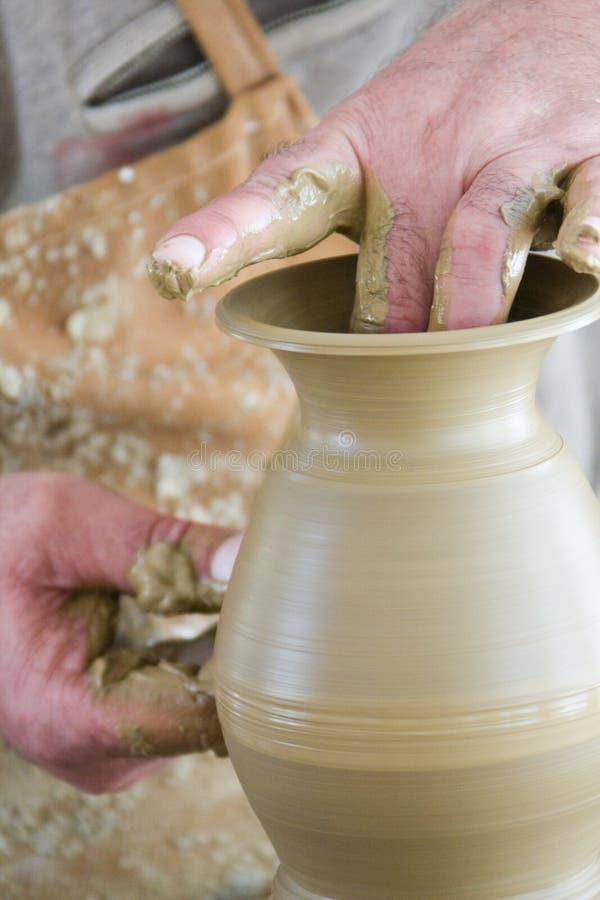 Classe de poterie photos libres de droits