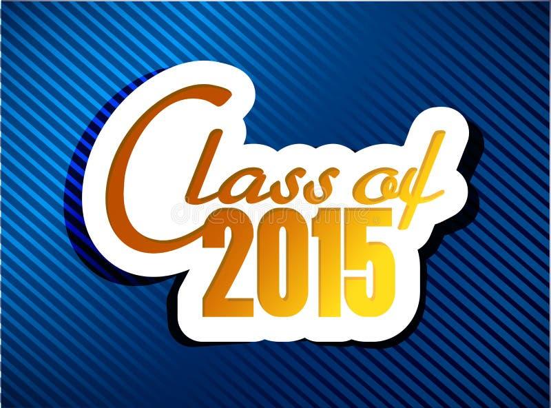 Classe de 2015 projeto da ilustração da graduação ilustração stock