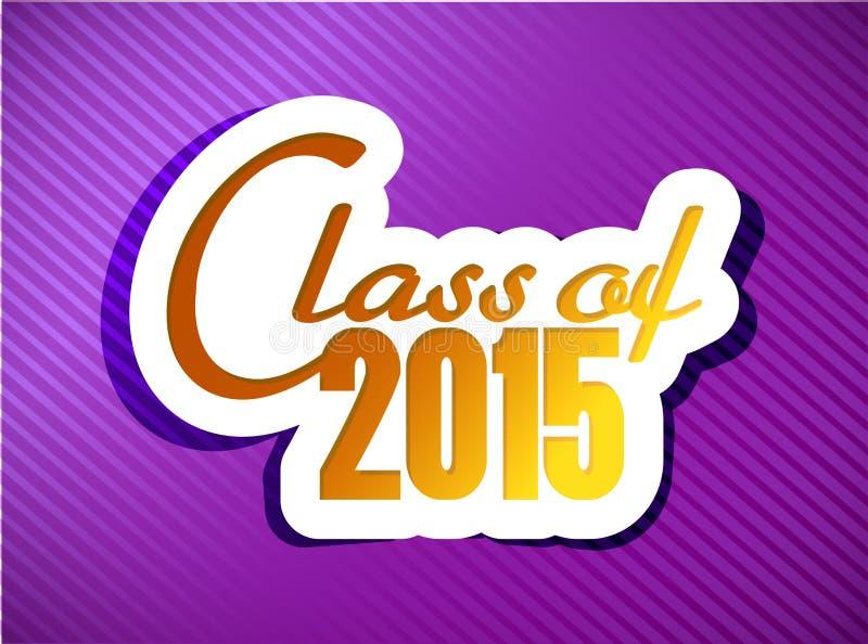Classe de 2015 projeto da ilustração da graduação ilustração royalty free