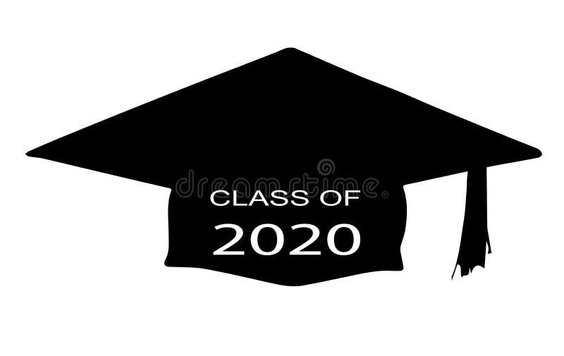 Classe de 2020 ilustração royalty free