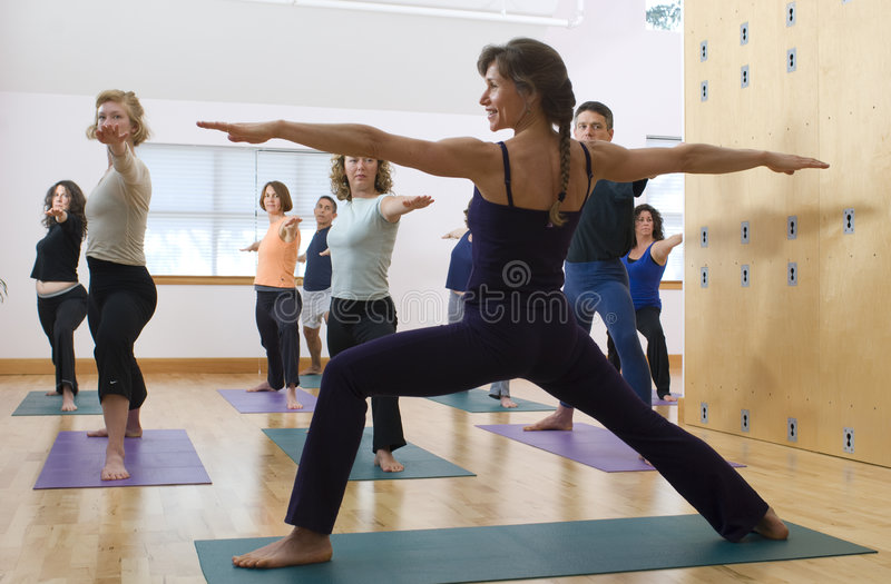 Classe de yoga photos stock