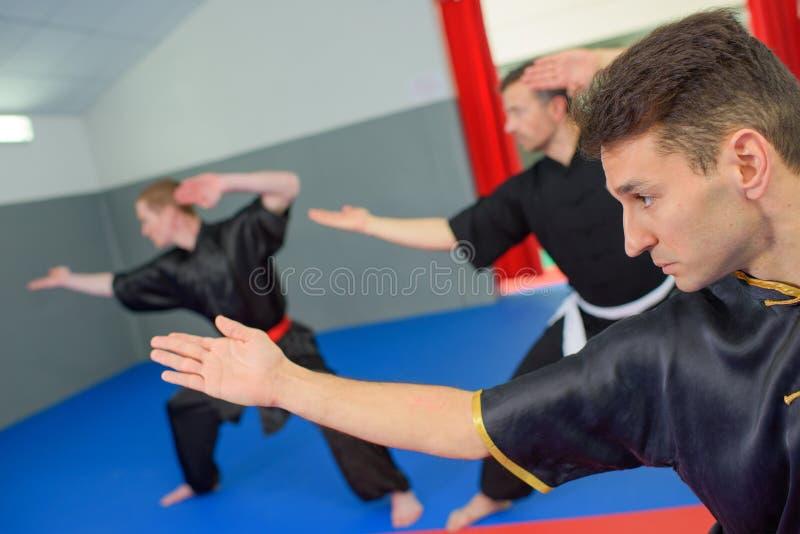 Classe di arti marziali nell'azione immagine stock