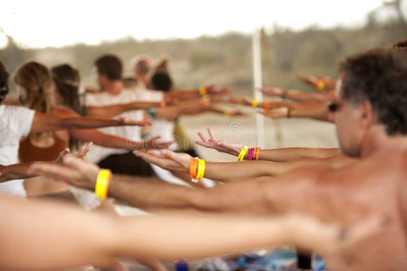 Classe do festival da ioga fotografia de stock royalty free