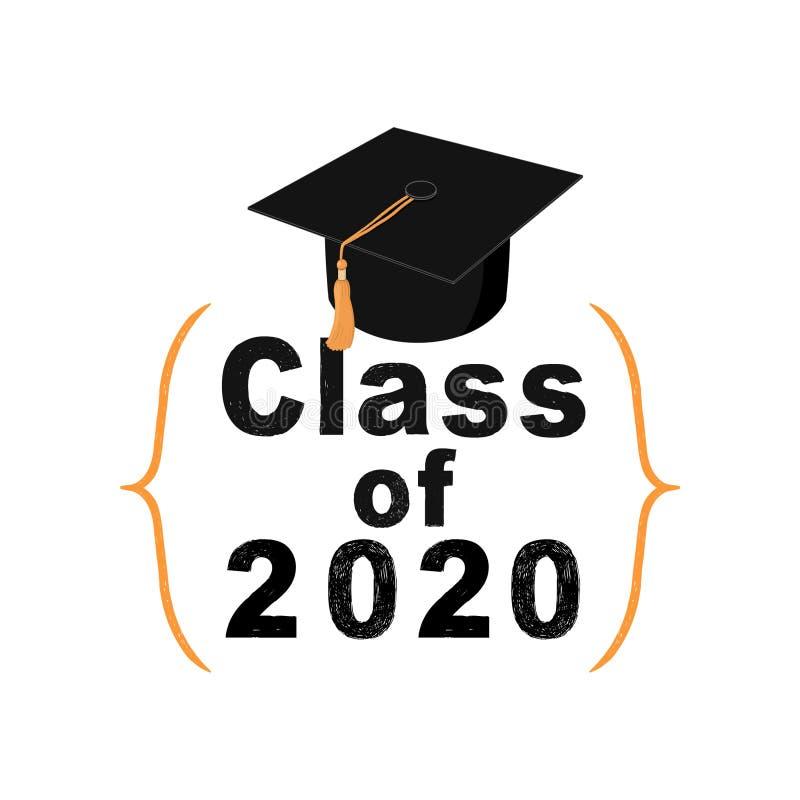 Classe do sinal 2020 no fundo branco ilustração do vetor