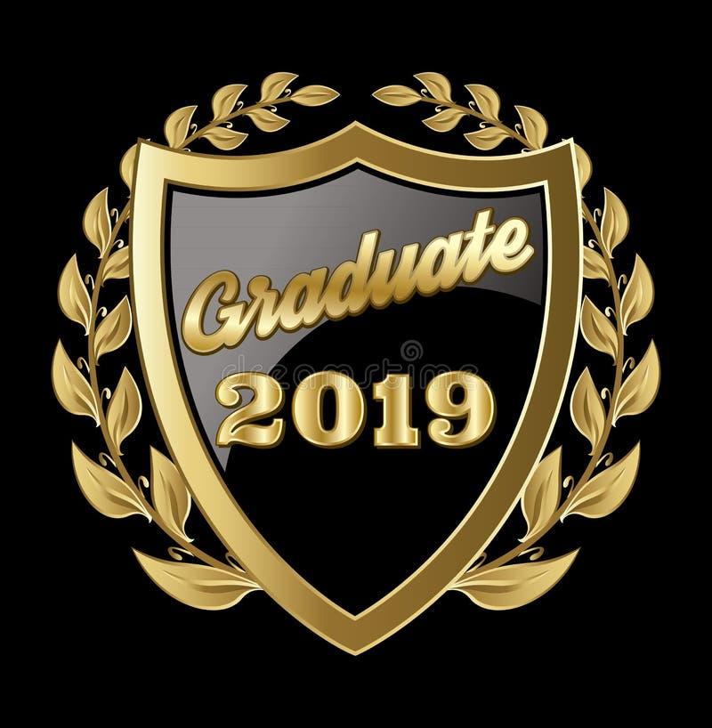 A classe do vetor da graduação das felicitações 2019 do graduado de Congrats gradua-se ilustração royalty free
