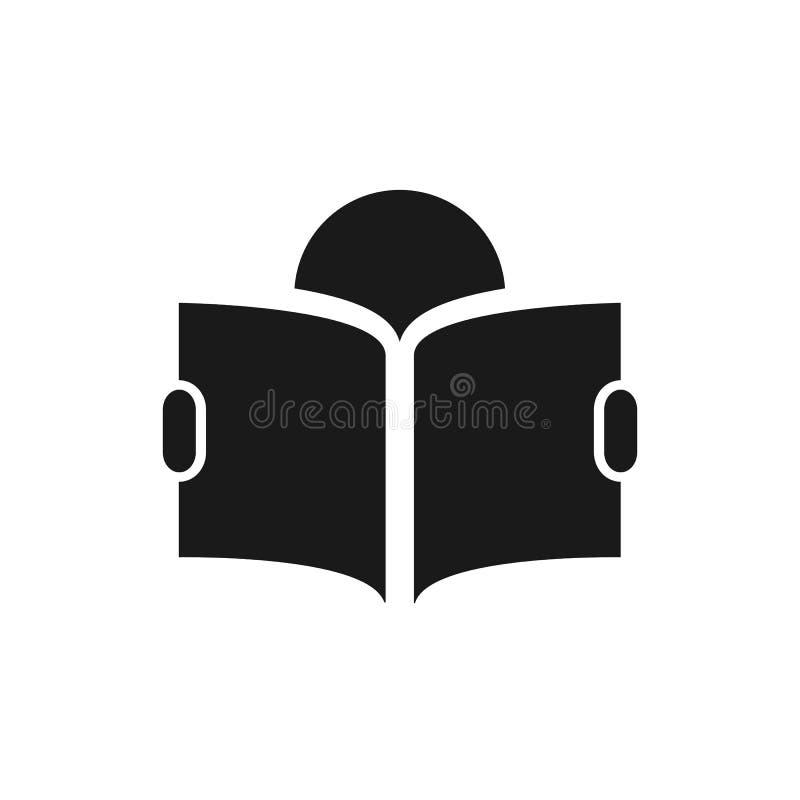Classe piana di simbolo di istruzione dell'icona di vettore del libro di lettura di illustrazione del segno per progettazione gra illustrazione vettoriale