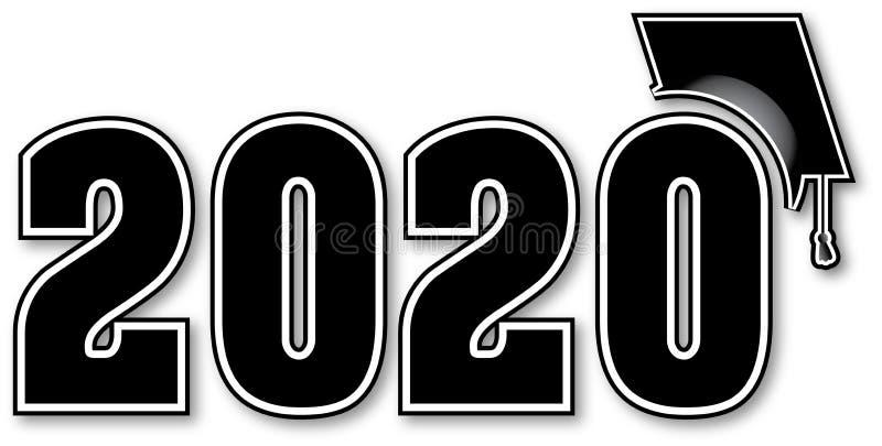 Classe preto e branco de 2020 ilustração do vetor