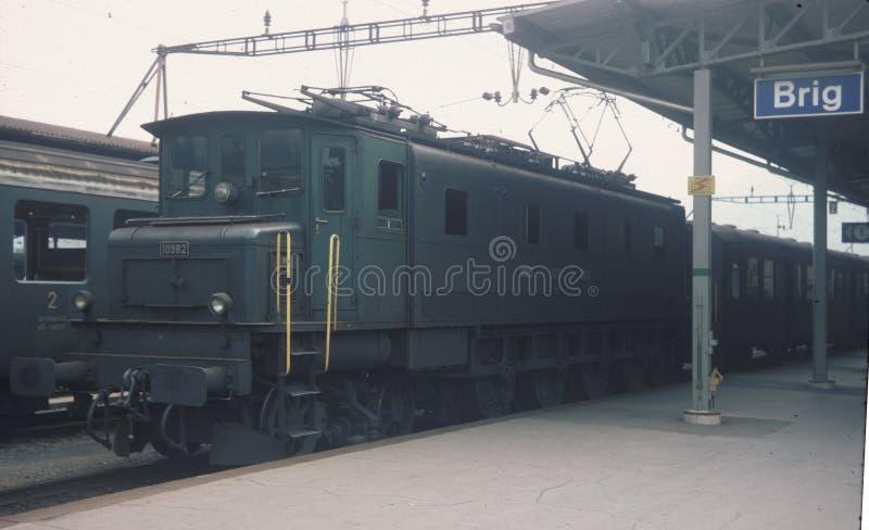 Classe suisse EA 4/7, non 10982 - Brig 1980 images libres de droits