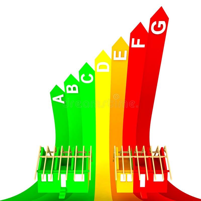 A classe superior avaliou o conceito da energia da casa nova ilustração stock