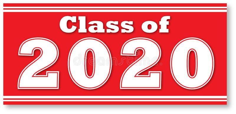 Classe vermelha de bandeira encaixotada 2020 ilustração stock