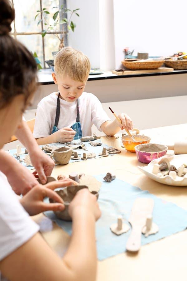 Classes criativas para crianças fotografia de stock royalty free