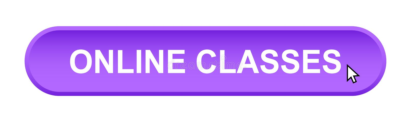 Classes en ligne illustration de vecteur