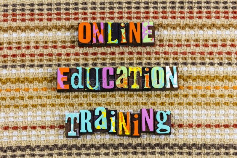 Classes en ligne de cours de formation d'éducation illustration stock