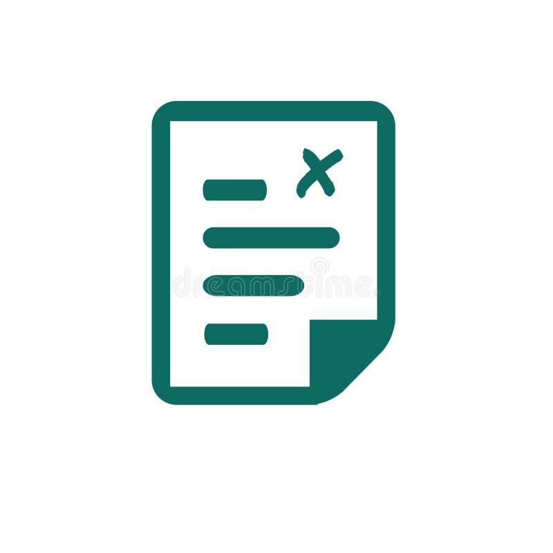 Classez l'icône, icône de document, illustration de vecteur d'isolement sur le blanc illustration stock