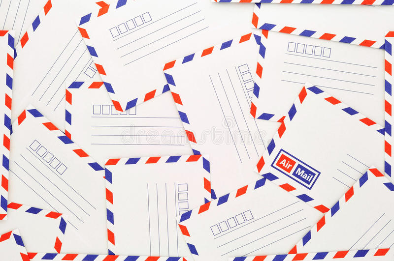 Classic air mail envelope stock image