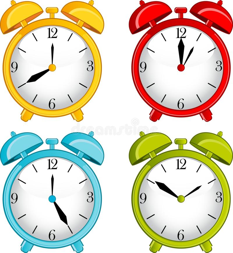 Free Classic Alarm Clock On Background Stock Photography - 19942822