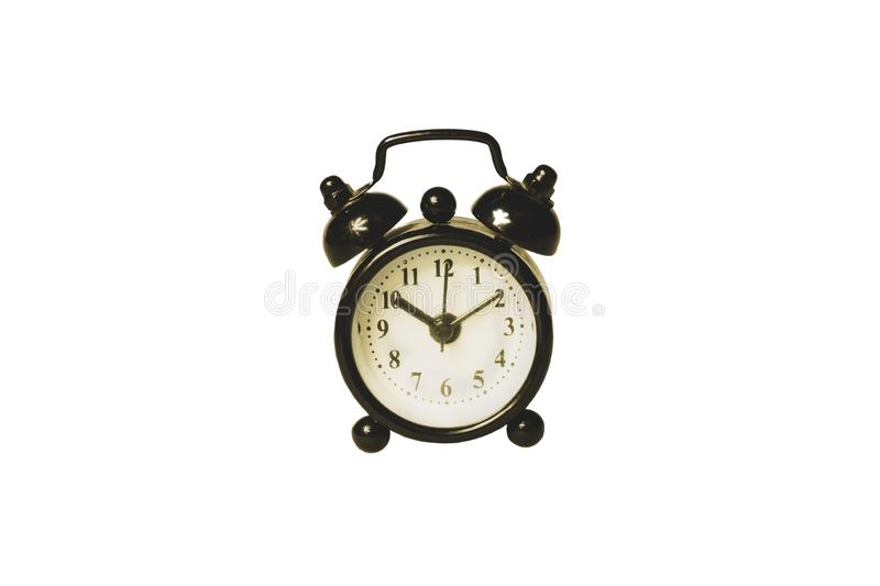 Classic alarm clock on white background. retro watch with round dial. clip art. Classic alarm clock on white background. vintage watch with round dial. clip art stock photo