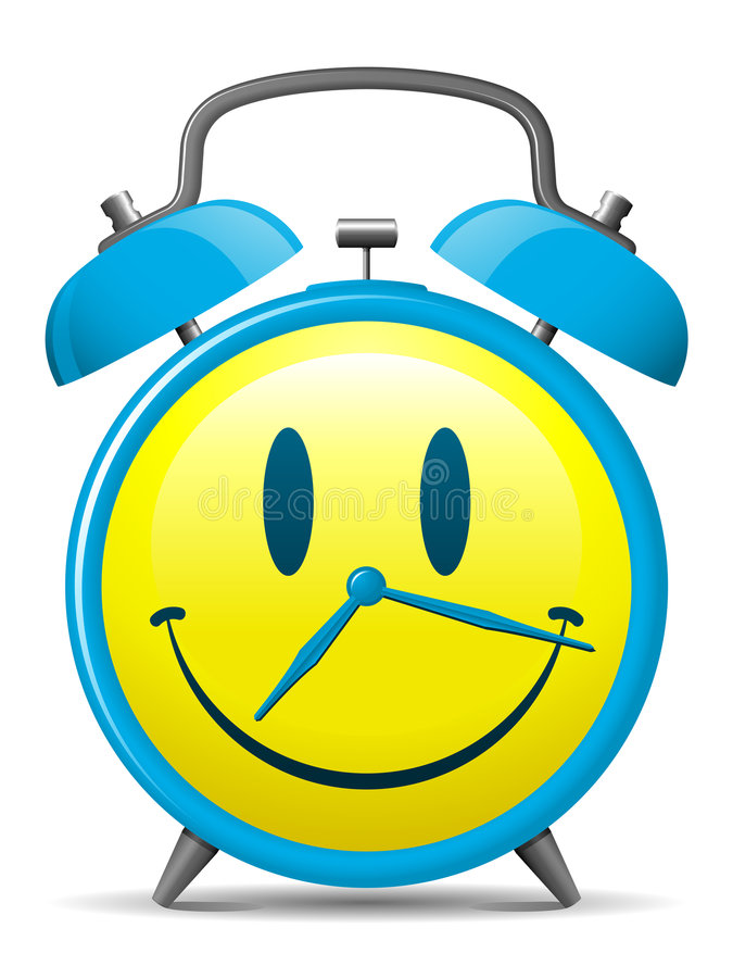 Free Classic Alarm Clock With Smiley Face Royalty Free Stock Photography - 8943127