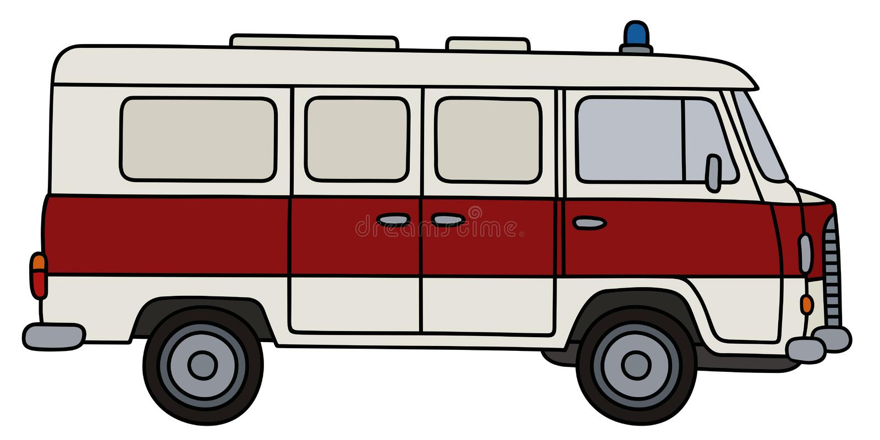 Classic ambulance vector illustration