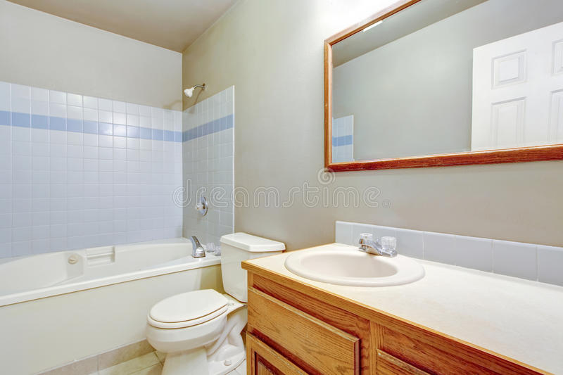Classic american bathroom interior design with tile trim for American classic interior design