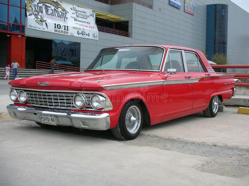 Classic american car stock image