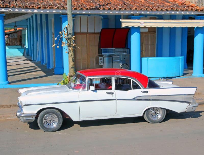 Classic American Car in Cuba. Classic American car parking in a street in Havana,Cuba royalty free stock photo