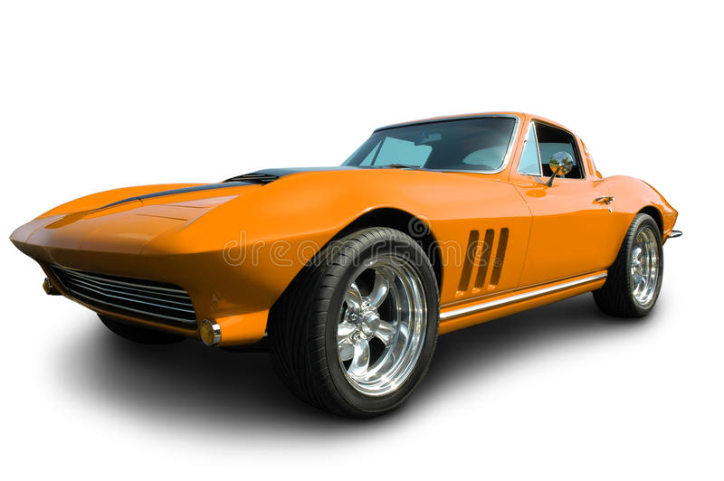 Classic American Corvette stock photography