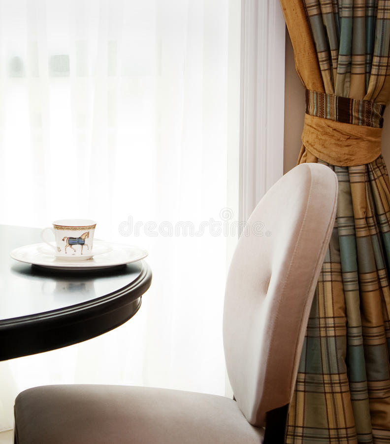 Classic American dining room stock images