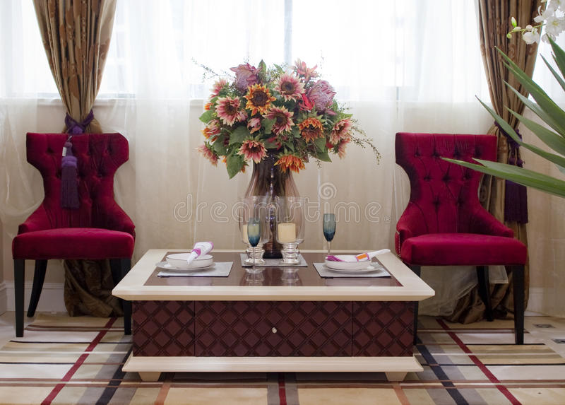 Classic American dining room royalty free stock photography