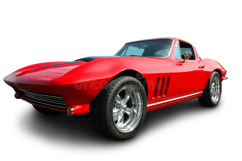 Classic American Sports Car stock image