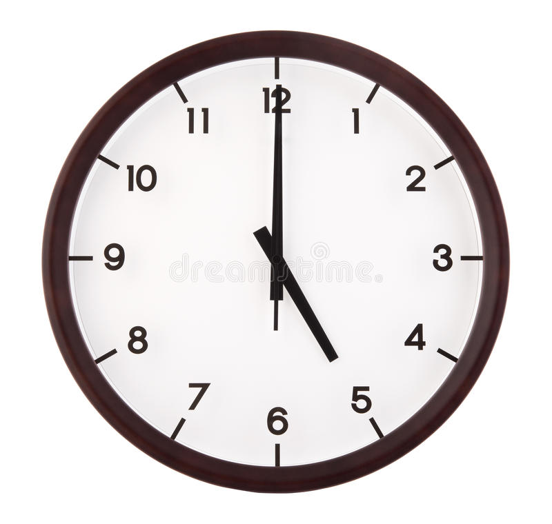 Download Classic analog clock stock photo. Image of hour, front - 27653234