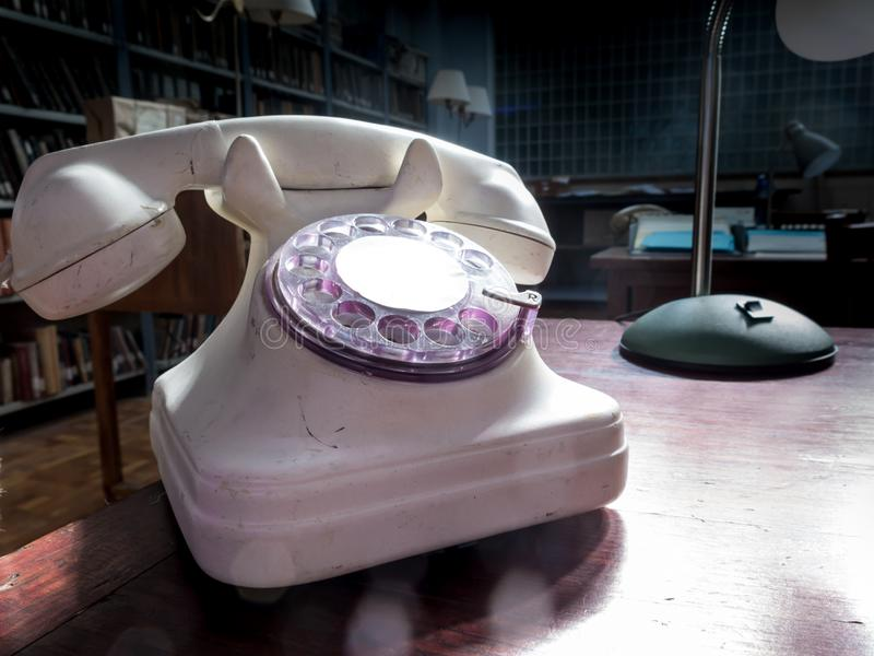 Classic analog telephone stock photos