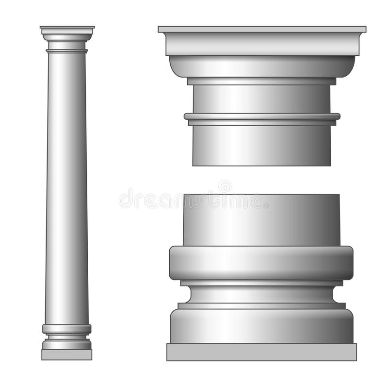 Download Classic Ancient Column stock vector. Image of monument - 26608597