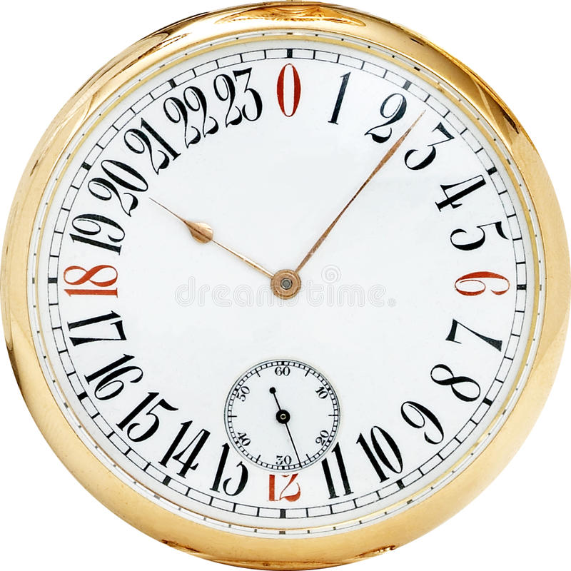 Classic Antique Clock. Vintage antique nautical clock with brass trim and white face with roman numerals stock photography