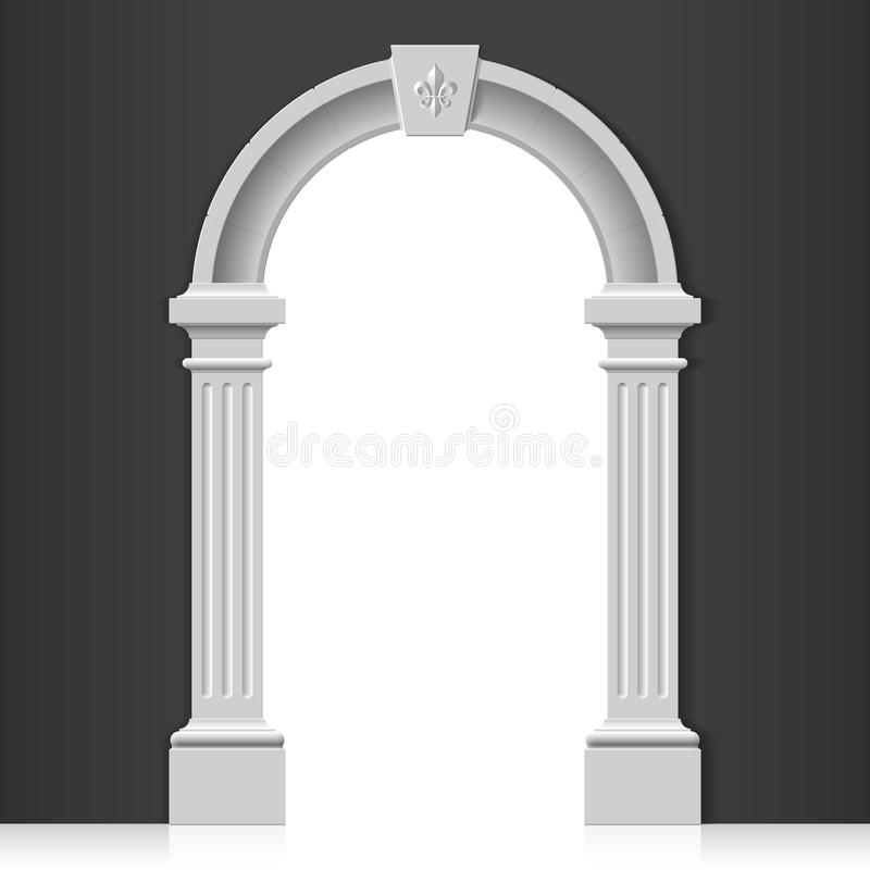 Classic arch royalty free illustration